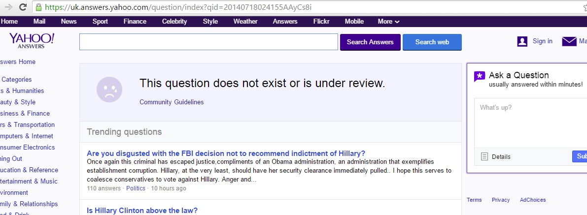 How to Delete a Question on Yahoo answers | Yahoo complaints